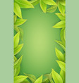 lush green leaves on a green background vector image vector image