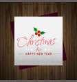 merry christmas greetings design with dark vector image vector image
