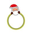 merry christmas santa claus badge decoration vector image vector image