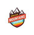 mountains expedition - concept badge climbing vector image vector image