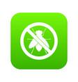 no fly sign icon digital green vector image vector image