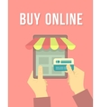 Online Shopping by Tablet vector image vector image