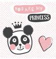 panda princess vector image vector image