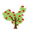 patriotic tree china map chinese flag national vector image