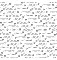 Pencil texture seamless pattern wave simple vector image