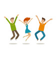 people celebrating party jubilation concept vector image vector image