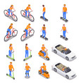 personal transport set vector image vector image