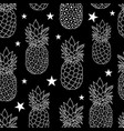pineapples stars repeat vector image vector image