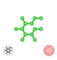 prebiotic icon chemical structure of prebiotic vector image vector image