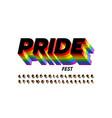 rainbow flag colors font vector image