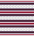 retro red white pattern with horizontal stripes vector image