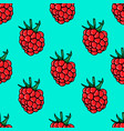 seamless pattern with raspberries design element vector image vector image