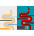 Set business hands business concepts in flat style vector image