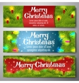 Set of horizontal Merry Christmas banners vector image vector image
