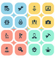 set of simple help icons vector image