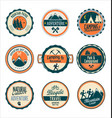 set outdoor adventure retro labels vector image