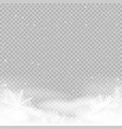 sky clouds and snow winter background vector image vector image
