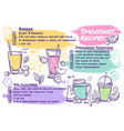smoothie recipes fruit cocktails with smoothie vector image