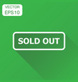 sold out seal stamp icon business concept sold vector image vector image