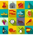 Spain icons flat vector image vector image