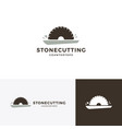 stone cutting and countertop logo icon vector image vector image