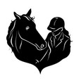 stylized silhouette of a horse with a beautiful vector image vector image
