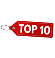 top 10 label or price tag vector image vector image