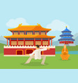 travel china collection buddhist monk chinese vector image