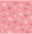 valentines day background with beautiful hearts vector image vector image