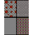 Variations black and white checkered seamless back vector image vector image