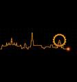 vienna light streak skyline vector image