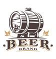 vintage barrel of beer vector image