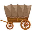 wagon with wooden wheels vector image
