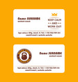 workout coach fitness exercise business card vector image vector image
