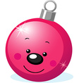 xmas character - ball decoration with smiling face vector image vector image