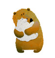 mother bear holding cub child vector image
