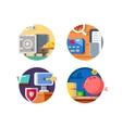 Storage money in bank vector image