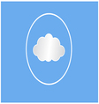 White cloud circle vector image