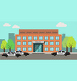 police station building vector image