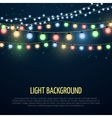 Abstract background with christmas garland vector image vector image