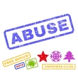 Abuse Rubber Stamp vector image vector image