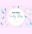 artistic banner brush stroke candy shop
