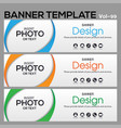 banner web template banner blackground and banner vector image vector image