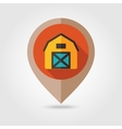 Barn house flat mapping pin icon vector image vector image