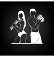 Beautiful fitness young sporty couple with vector image vector image