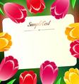 beautiful horizontal rectangular greating card vector image vector image