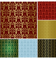 beautiful seamless patterns - set vector image vector image