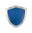 blue shield emblem icon vector image vector image