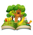 book with playground in the park vector image vector image