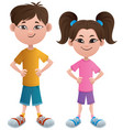 boy and girl asian vector image vector image